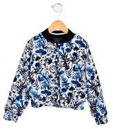 Ikks Girls' Floral Print Reversible Jacket w/ Tags