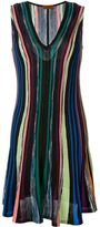 Missoni striped knit flared dress