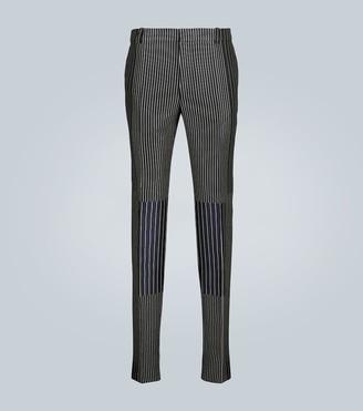 Alexander McQueen Patchwork pinstriped pants