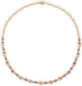 LeVian Le Vian Chocolatier® Morganite (11-1/5 ct. t.w.) and Diamond (9/10 ct. t.w.) Collar Necklace in 14k Rose Gold