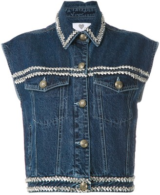 Andrea Bogosian Paiva embroidered denim vest