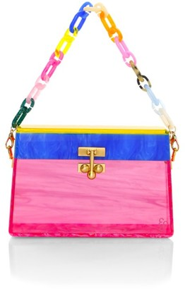 Edie Parker Miss Mini Rainbow Acrylic Shoulder Bag