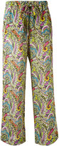 Etro abstract print flared trousers - women - Silk - 40