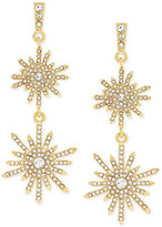 Vince Camuto Gold-Tone Crystal Sunburst Double Drop Earrings