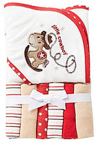 Starting Out Cowboy Hooded Towel & Washcloths Set