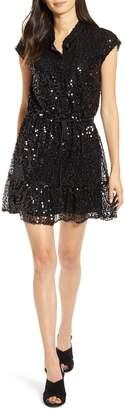 Rebecca Minkoff Ollie Cap Sleeve Sequin Minidress