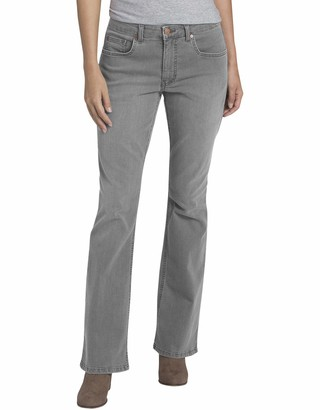 Dickies Women's Perfect Shape Denim Jean-Bootcut Stretch