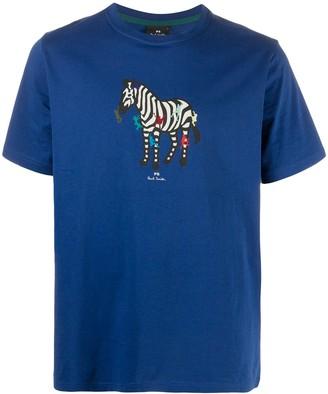 Paul Smith zebra print organic cotton T-shirt