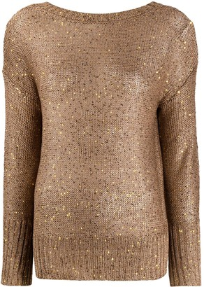 Snobby Sheep Embroidered Long-Sleeve Jumper