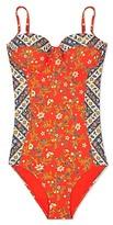 Tory Burch Batik Floral One-Piece