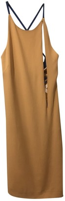 Genny Camel Silk Dress for Women