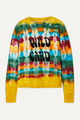The Elder Statesman Wild Card Tie-dyed Cashmere Sweater - Yellow
