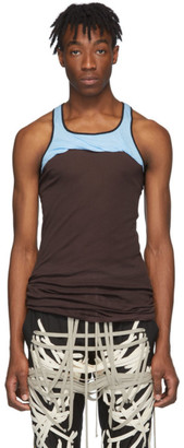 Rick Owens Burgundy and Blue Release Combo Tank Top