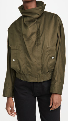 3.1 Phillip Lim Twill Jacket with Exaggerated Collar