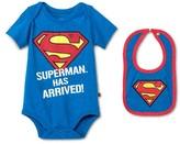 Superman Newborn Boys' Bodysuit & Bib Set - Blue