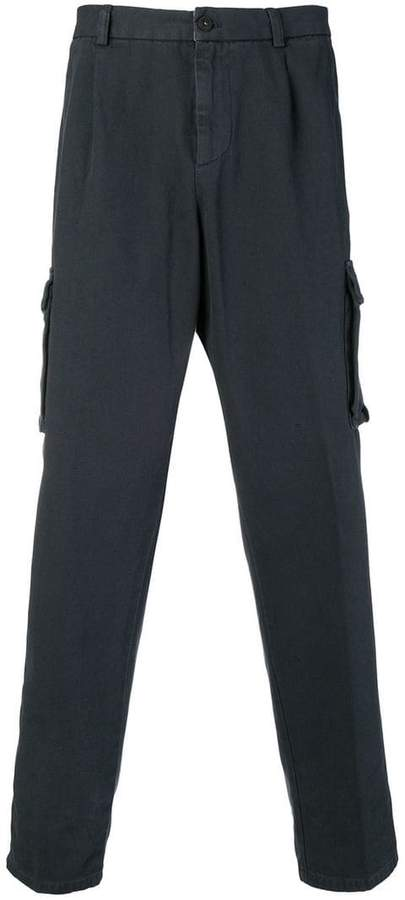 Eleventy canvas cargo trousers