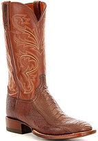 Lucchese Men's Stewart Leather & Ostrich Leg Slip-On Boots