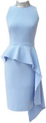 Mellaris Loren Dress Sky Blue Crepe Silver Sequins