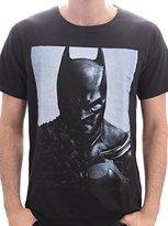 Batman Men's Printed Round Collar Short Sleeve T-Shirt - Black -