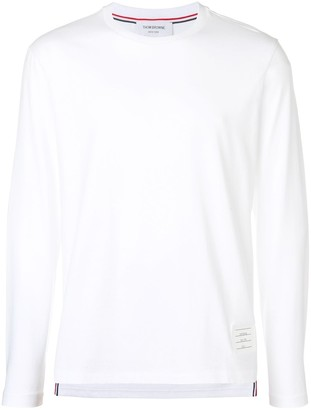 Thom Browne Side Slit Relaxed Fit Long Sleeve Jersey Tee