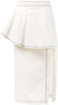 Stella McCartney Ruffle Straight Skirt