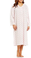 Miss Elaine Plus Floral Honeycomb Nightgown