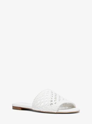 MICHAEL Michael Kors Augustine Woven Slide Sandal