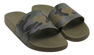 Valentino Khaki Rubber Sandals