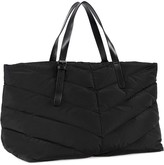 Mackage Emilee Quilted Fabric Weekender Tote In Black