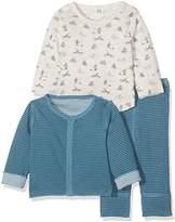 Petit Bateau Baby Boys' ENSEMBLE3P Revers. Ate/PO 2523386 Clothing Set,(Manufacturer Size: 1M/54 cm)