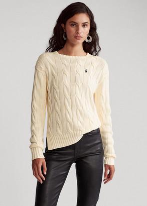 Ralph Lauren Vented-Hem Cable-Knit Sweater