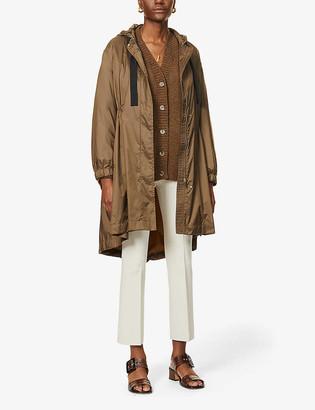 S Max Mara Parka drawstring-waist shell coat