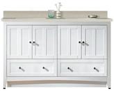 """Riordan 59"""" Double Bathroom Vanity Set Royal Purple Bath Kitchen Sink Finish: Biscuit, Faucet Mount: 4"""" Centers"""