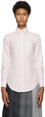 Thom Browne Pink Oxford 4-Bar Round Collar Shirt