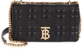 Burberry Small Lola Quilted Check Lambskin Shoulder Bag