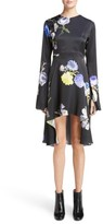 Acne Studios Women's Dahari Floral Print High/low Dress