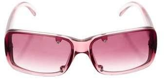 Versace Logo Rimless Sunglasses
