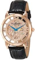 Stuhrling Original Men's 165B.334514 Lifestyles Winchester Grand Automatic Skeleton Rosetone Watch