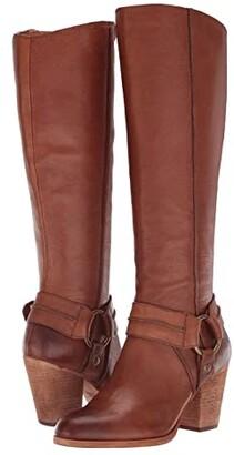 Frye Essa Seam Harness Tall (Beige) Women's Boots