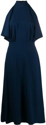 Prada Ruffle Detail Midi Dress