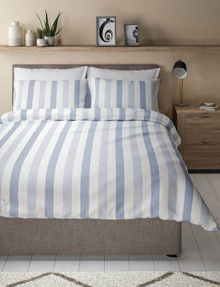 Marks and Spencer Hadley Pure Cotton Striped Bedding Set