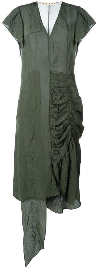 Marni Asymmetric Ruched Dress