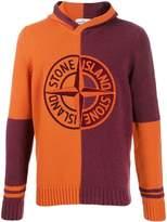 Stone Island embroidered logo hoodie