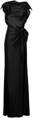 Burberry Summers Knotted Satin Gown