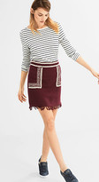Esprit Lightweight mini skirt with embroidery
