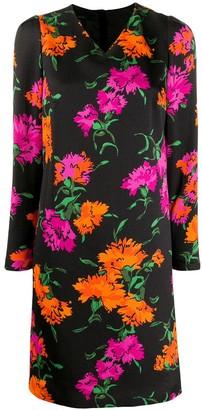 Escada floral print shift dress