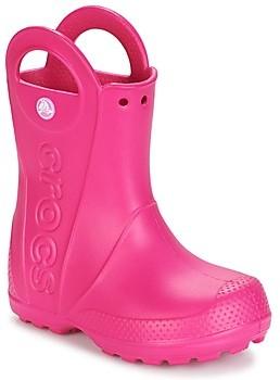 Crocs HANDLE IT RAIN BOOT girls's Wellington Boots in Pink