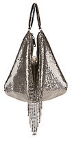 Whiting & Davis Mesh Fringe Double Ring Clutch