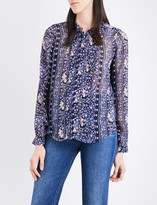 Paige Samita floral silk-chiffon shirt