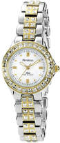 Swarovski Armitron Now Womens Crystal-Accent Two-Tone Brass Watch